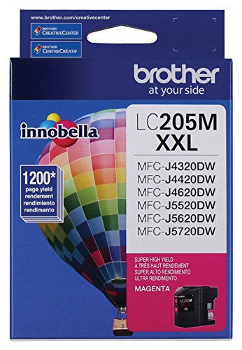 Brother Printer LC205M Super High Yield Ink Cartridge, Magenta