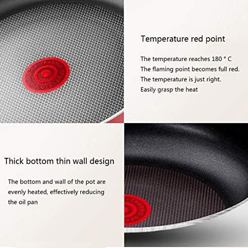 Poêle/poêle antiadhésive, poêle électromagnétique, contrôle Intelligent de la température du Point Rouge, cuisinière/gaz Universelle Facile à Nettoyer