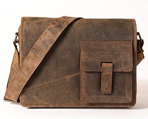 Firelog–Rustico in pelle borsa messenger–Large–�?52