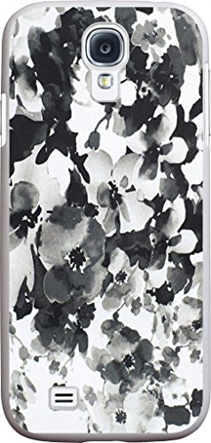 Case for Samsung Galaxy S4 black and white vintage colorful beautiful floral flower print pattern theme