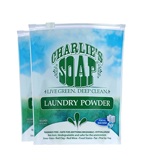Charlies Soap   Fragrance Free Laundry Powder   100 Loads  2 Pack    200 Total Loads