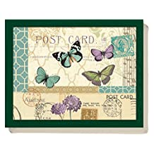 Postcard Butterfly Bean Bag Cushion Lap Tray Laptop Tray By Creative Tops