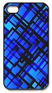 iPhone 4S Case and Cover -Blue Vector PC case Cover for iPhone 4 and iPhone 4s ¨CBlack