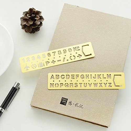 Durable Service Bullet Journal Stencil Plate For Drawing Graffiti Stainless Steel Ruler With Web UI