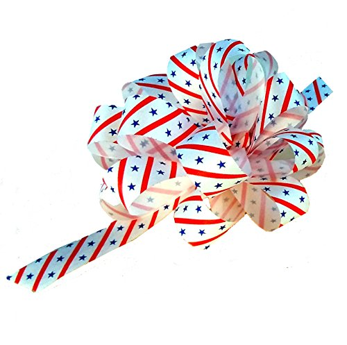Stars & Stripes Decorative Gift Pull Bows - 5