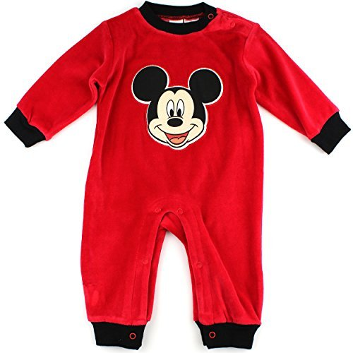 Disney Mickey Mouse Baby Boys' Infant Velour Coverall -