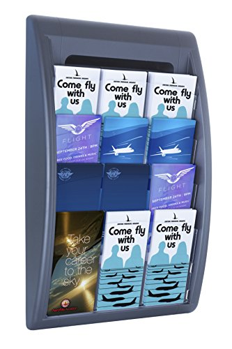 Paperflow Quick Fit Systems Wall Mounted 4-Pocket Literature Display, 25.6