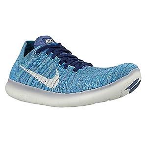 Nike Women's Free Running Motion Flyknit Shoes, Ocean Fog/White-blue Glow - 9.5 B(M) US