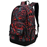 Best Backpack For High School Boys - Ricky-H Red/Black Graffiti School Backpack for Girls Review