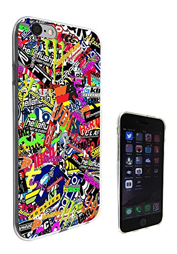 112 - Stickerbomb Sticker Bomb Cars Cool Funky Design Design iphone 6 Plus / 6S plus 5.5'' Fashion Trend CASE Gel Rubber Silicone All Edges Protection Case Cover
