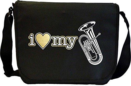Euphonium I Love My - Musik Noten Tasche Sheet Music Document Bag MusicaliTee Kzq14