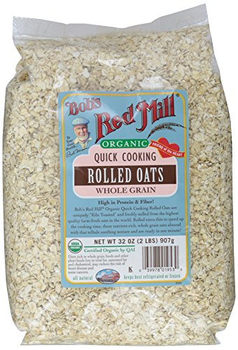 Bob's Red Mill Organic Quick Rolled Oats, 32 oz