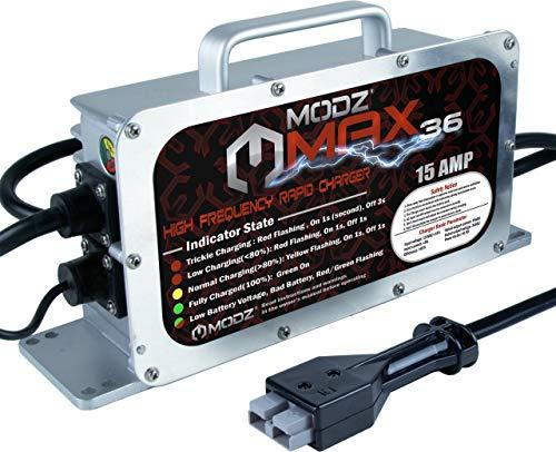 MODZ Max36 15 AMP EZGO Marathon Battery Charger for 36 Volt Golf Carts