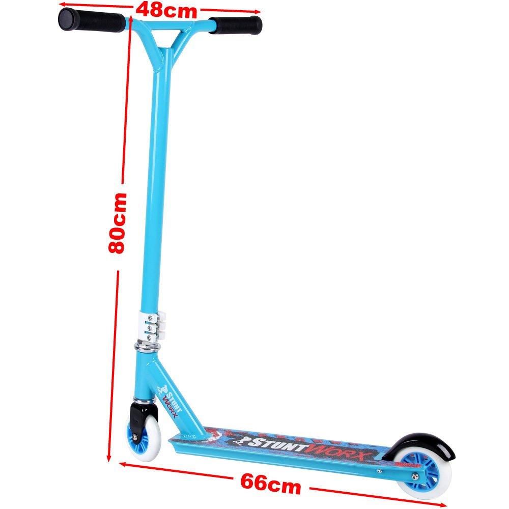 Deuba Patinete para Acrobacias Stunt-Scooter StuntWorx Azul ...