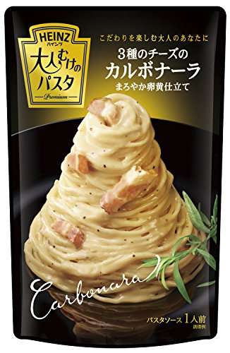 Carbonara mellow yolk tailoring 130g X4 bags of Heinz adults of pasta three kinds of cheese (Carbonara Pasta)