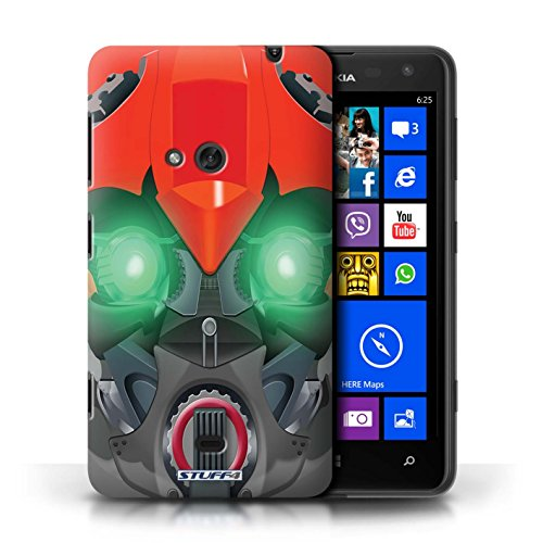 Etui / Coque pour Nokia Lumia 625 / Bumble-Bot Rouge conception / Collection de Robots