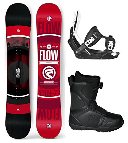 Flow 2018 Vert WIDE Men's Complete Snowboard Package Flow Bindings Flow BOA Boots - Board Size 162 WIDE (Boot Size 12)