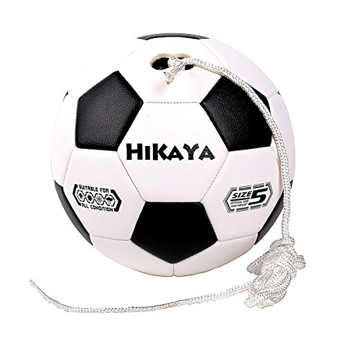 HIKAYA Tether Soccer Ball with Connection Bar, Size 5, 8ft Nylon Rope, for Training and Improve Skills, Play as Speed Ball, (8' Play Ball)