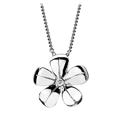 Hot Diamonds Flourish Bow Sterling Silver Pendant on Chain of 46 cm WZA6gChdS