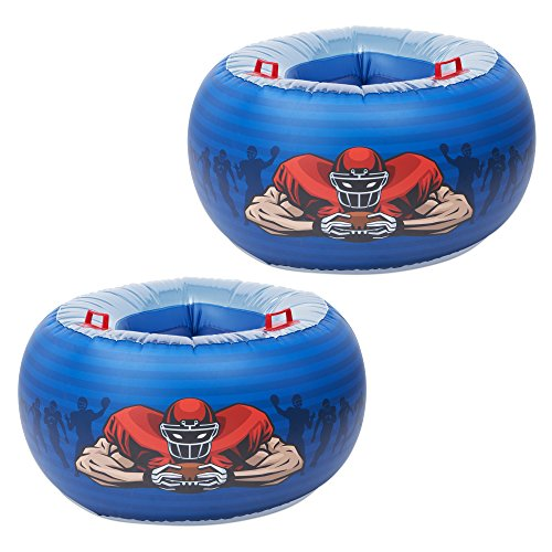 MD Sports Giant Inflatable Football Body Bumper Bopper Set - XL Wearable Sumo Bopper & Knocker for Play and Rough Housing - Blow Up Buddy Body Bubble Set for 2 - Bbop Ball Bumper for Adults, Kids -