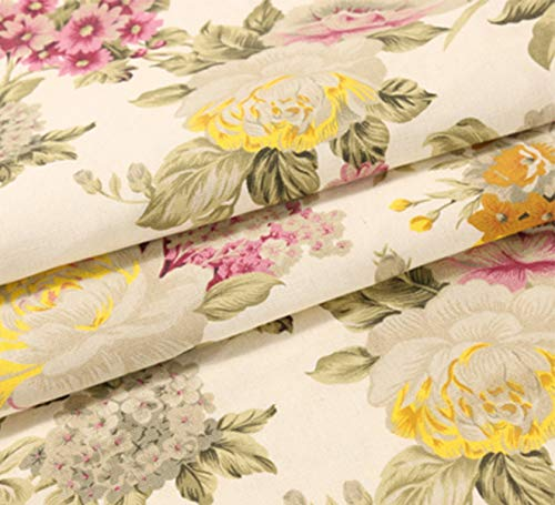 ONECHANCE Algodón Tela de lona pesada Mantel floral Cubre ...