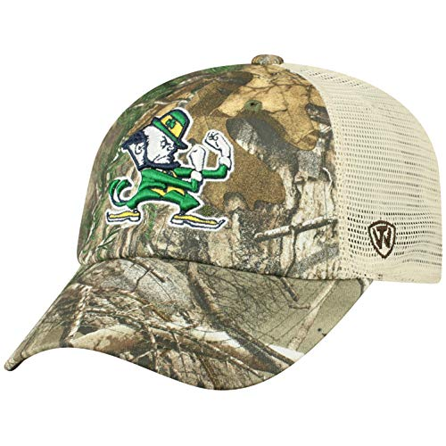 NCAA Notre Dame Fighting Irish Men's Camo Stock Adjustable Mesh Icon Hat, Real Tree