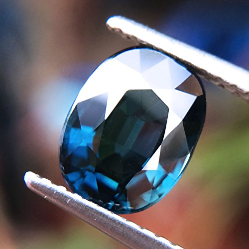 Certified GLC 2.03ct Natural Oval Unheated Blue Sapphire Tanzania #B by Lovemom (Image #1)