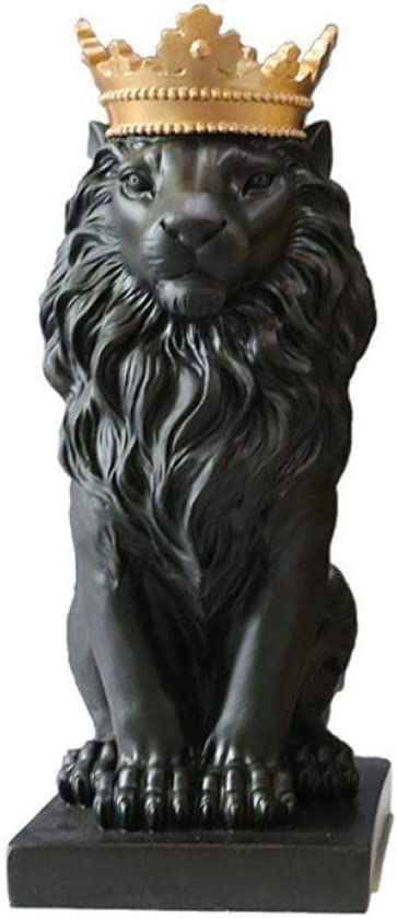 QIBAJIU Estatuas para Jardín Escultura Decorativa Regalo Estatua Crown Lion Decoration Sala De TV Práctica Decoración del Gabinete: Amazon.es: Hogar