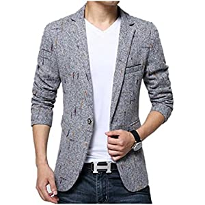 Juseesij Mens Blazer Men Blazer Designs Plus Size Mens Plaid Blazer Slim Fit MenS Blazers Suit