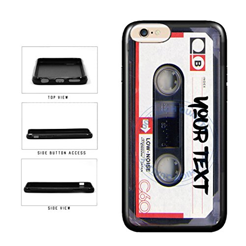 BleuReign(TM) Personalized Custom Name Mixtape Cassette TPU RUBBER SILICONE Phone Case Back Cover For Apple iPhone 7 (Cassette Tape Case For Iphone 4)