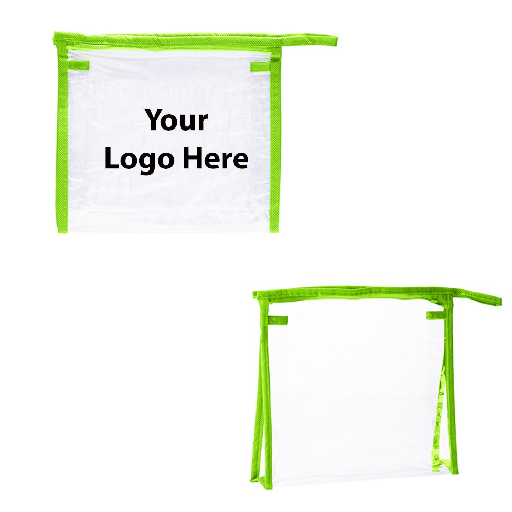Quart Size PVC Travel Amenities Case - 150 Quantity - $2.00 Each - PROMOTIONAL PRODUCT / BULK / BRANDED with YOUR LOGO / CUSTOMIZED by Sunrise Identity