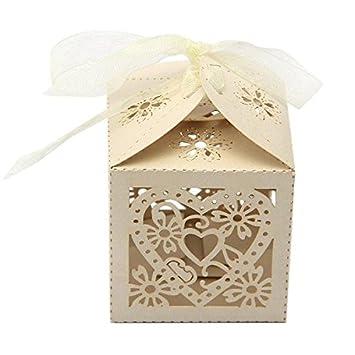 Crazo Cajas Cajitas para Bombones Caramelo de Boda: Amazon ...