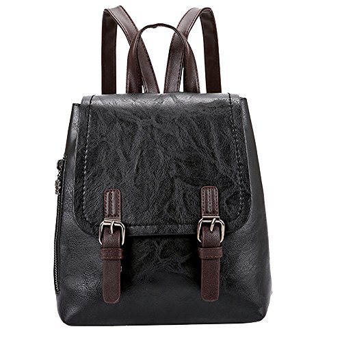 (Back to School! Hot Clearance!DDKK Backpack Women Vintage PU Leather Backpack Anti-Theft Laptop Vintage College School Rucksack Bag Tote Backpack)