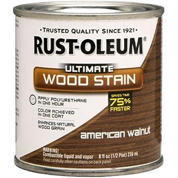 Rust-Oleum 260364 Ultimate Wood Stain, Half Pint, American Walnut