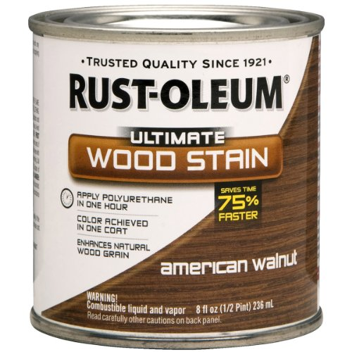 Rust-Oleum 260364 Ultimate Wood Stain, Half Pint, American Walnut (Gel Stain Oak Cabinets Before And After)