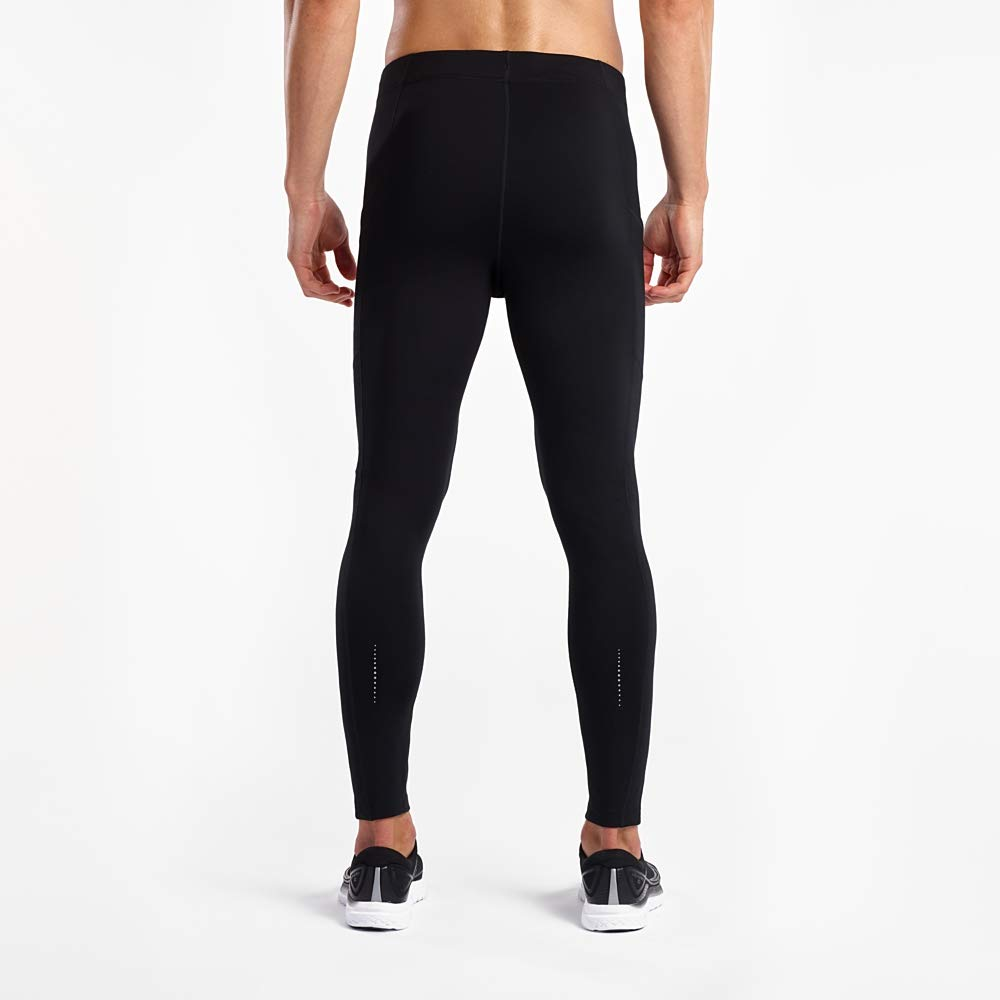 Large Black Saucony Mens Reversi-Run Tights