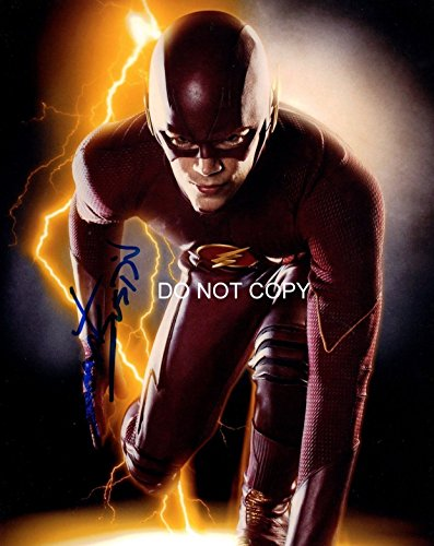 The Flash tv show Grant Gustin reprint signed autographed photo #1 The CW from Loa_Autographs