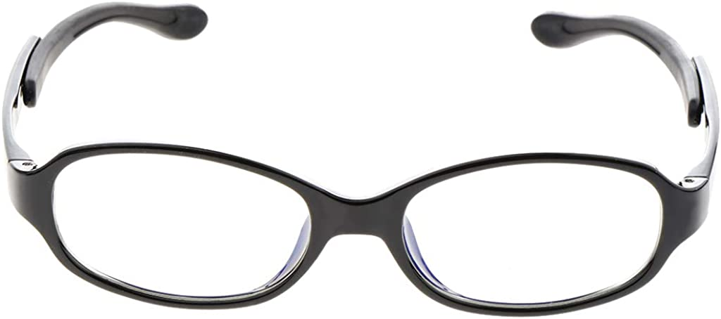 IPOTCH Klassische Kinderbrillen Blaulicht Schutzbrille mit Klare Linse Brille f/ür Jungen Und M/ädchen