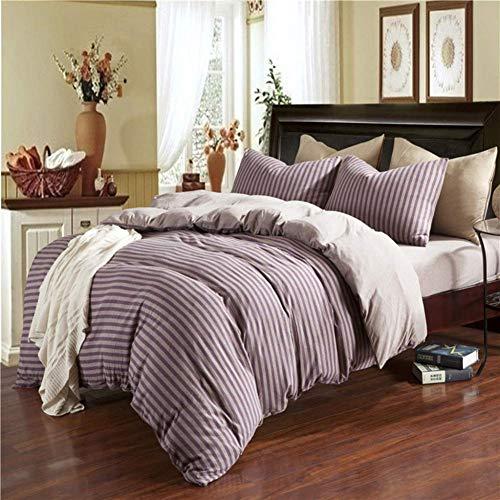 BAIF Bedding Set, Cotton Four-Piece Suit, Pinstripe Style 5 Colors to Choose from,E_1.8M (Liquid Pinstripe Suit)
