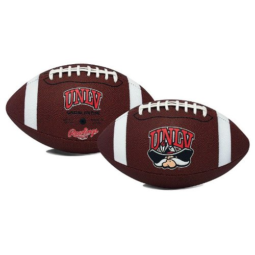 Jarden Sports Licensing NCAA Game Time Full Size Football, UNLV Rebels, Brown, Full Size