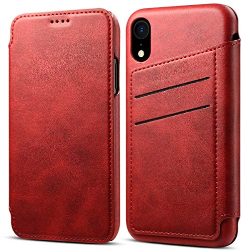 """iPhone Leder Handy Hülle Wallet Handy Tasche für iPhone (iphone XR(6,1"""") Rot) - Berlin, Deutschland - iPhone Leder Handy Hülle Wallet Handy Tasche für iPhone (iphone XR(6,1"""") Rot) - Berlin, Deutschland"""