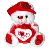 Musical I Love You Teddy Bear with Red Hat (11) Plays The Love Song - Best Valentine's Day Gifts: Valentines Day Gifts for Her, Valentines Day Gifts for Him, Valentines Day Gifts for Girlfriend, Valentines Day Gifts for Boyfriend, Valentines Day Gifts for Men, Valentines Day Gifts for Husband, Valentines Day Gifts for Wife, Valentines Day Gifts for Women by JA Fashion