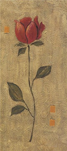 [The Perfect Effect Canvas Of Oil Painting 'A Red Flower' ,size: 16x36 Inch / 41x92 Cm ,this High Resolution Art Decorative Canvas Prints Is Fit For Kids Room Artwork And Home Decor And Gifts] (Vertical Rain Cap)
