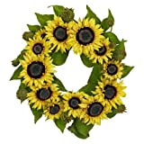 Nearly Natural 4787 Sunflower Wreath, 22-Inch, Yellow