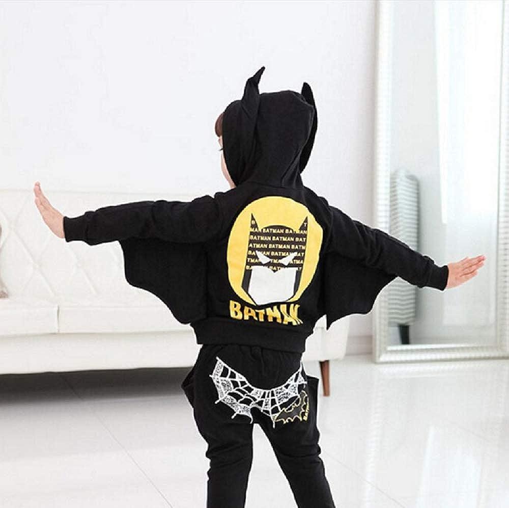 Happy angel Kids Boys Girls Batman Clothes Set Toddler Boys Batman Jogger Set DC Comics Batman Hoodie /& Sweatpants Set