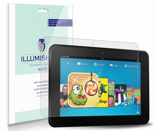 iLLumiShield Matte Screen Protector Compatible with Amazon Kindle Fire 7 inch (1st Gen)(3-Pack) Anti-Glare Shield Anti-Bubble and Anti-Fingerprint PET Film