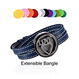 Love Heart Essential Oil Diffuser Stainless Steel Air Freshener Leather Bangle Aromathrapy Bracelet (Blue)