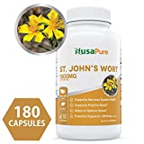 Cheap Best St. John's Wort 1000mg 180 Capsules (Non-GMO) Powerful 900mcg Hypericin Saint Johns Wort Extract for Mood, Anxiety & Depression Support (500mg per Capsule) – 100% Money Back Guarantee
