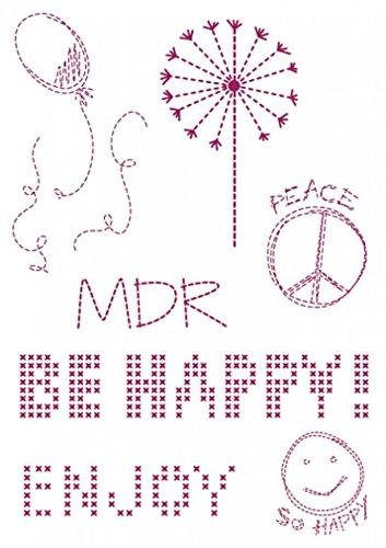 DMC Custom By Me Embroidery Transfer Magic Sheet Joy (Dmc Embroidery Transfer)