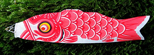 "45"" KoiNobori Cotton Wind Socks/Carp Wind Socks Celebrate Boys/Day Childrens Day May 5 (Red)"